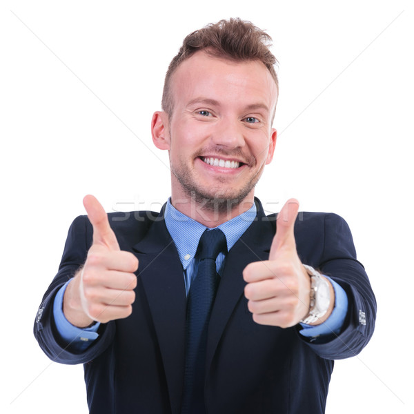 business man with both thumbs up Stock photo © feedough