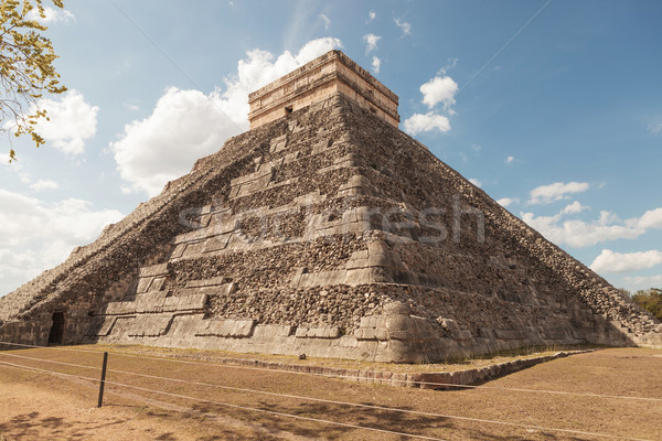 Pyramid in Tulum Mexico. Stock photo © feedough