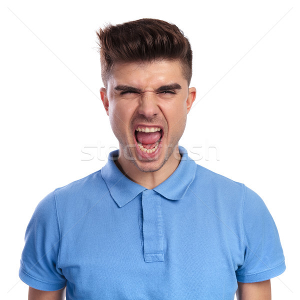 furious casual man screams  Stock photo © feedough