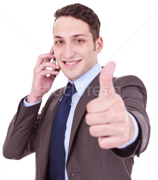 良いニュース 電話 ビジネスマン 話し ストックフォト © feedough