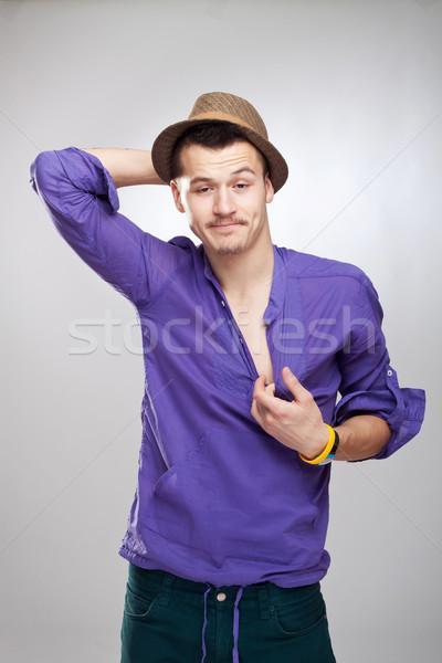 Bêbado cara seis cara engraçada Foto stock © feedough