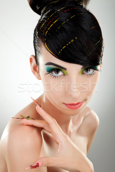 Exquisite young woman model looking at you Stock photo © feedough