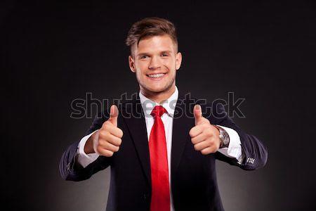 Hombre de negocios ambos jóvenes sonriendo Foto stock © feedough
