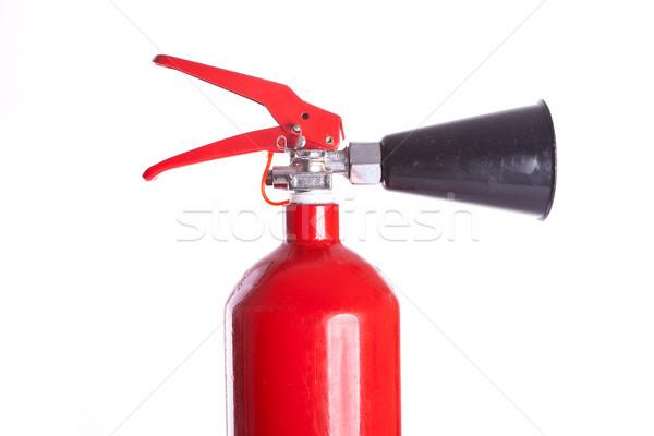 Tűz fej közelkép kép fehér munka Stock fotó © feedough