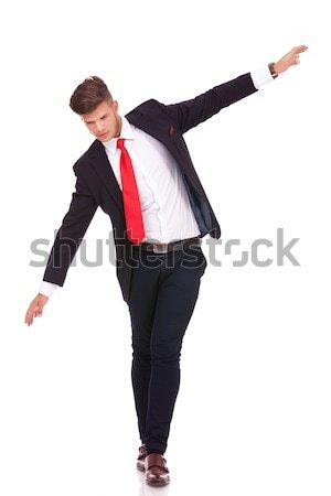 business man balancing Stock photo © feedough