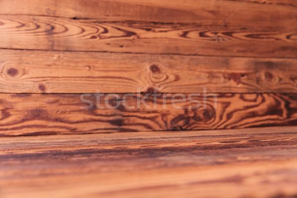 Eski ahşap odak spot ağaç ahşap bağbozumu Stok fotoğraf © feedough