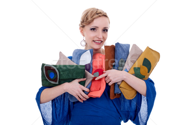 woman with a purse collection Stock photo © feedough