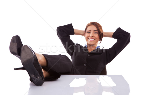 successful business woman resting Stock photo © feedough