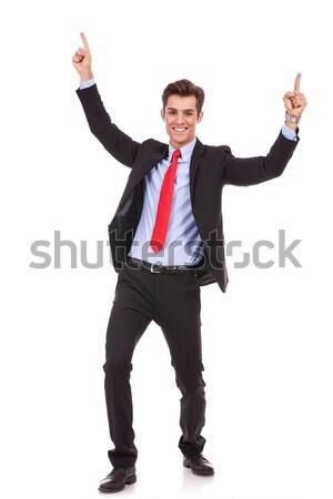 Energiczny młodych człowiek biznesu sukces portret Zdjęcia stock © feedough