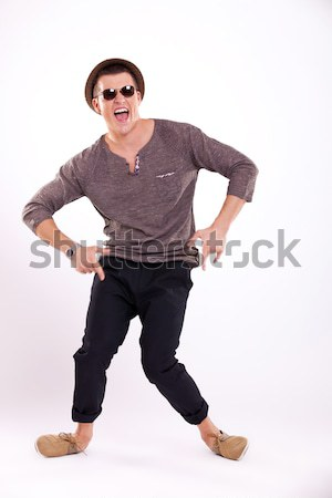 Stock photo: casual man fooling around
