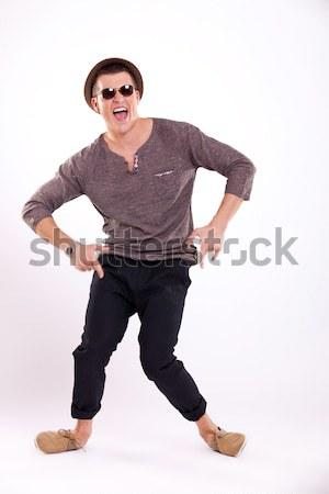 casual man fooling around Stock photo © feedough