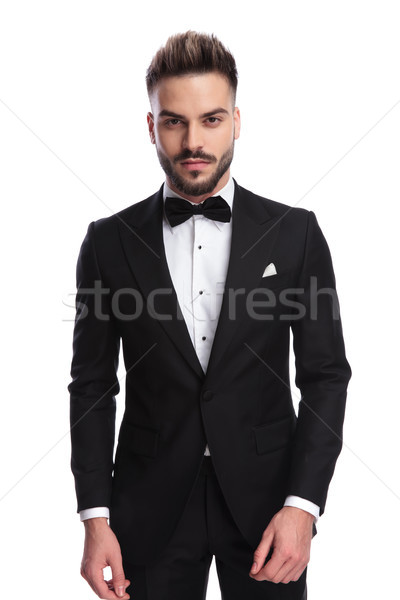 portrait of a young handsome elegant man in tuxedo Stock photo © feedough