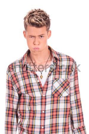 Lezser férfi körül arrogáns fiatal készít Stock fotó © feedough
