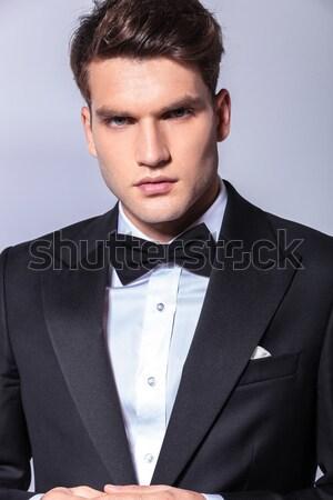 Jóvenes moda modelo traje empate Foto stock © feedough