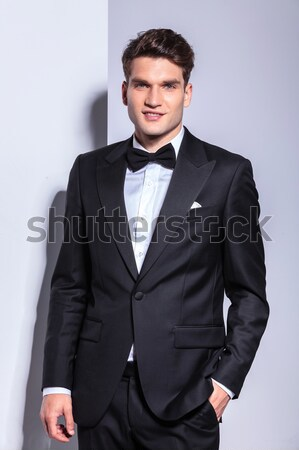 business man with a cute smirk on his face Stock photo © feedough