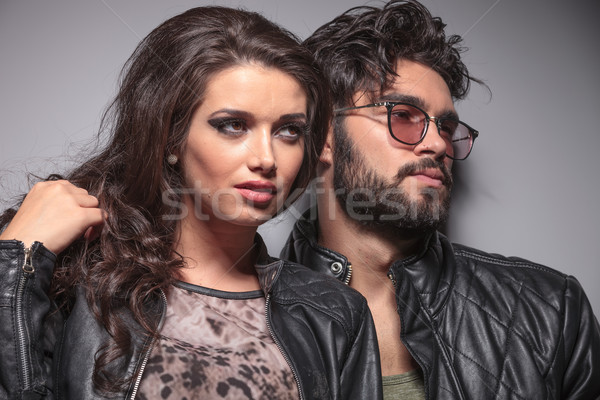 Young fashion couple posing for the camera Stock photo © feedough