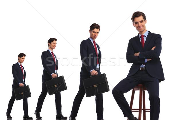 Homem de negócios diferente carreira evolução recompensar Foto stock © feedough