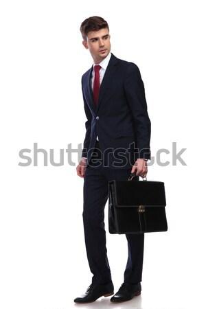 Giovani moderno uomo d'affari valigia entrambi Foto d'archivio © feedough