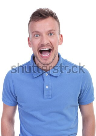 surprised casual young man Stock photo © feedough