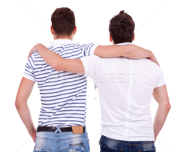 back view of two friends  Stock photo © feedough