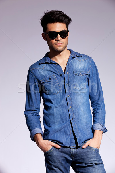 attractive man dressed casually Stock photo © feedough