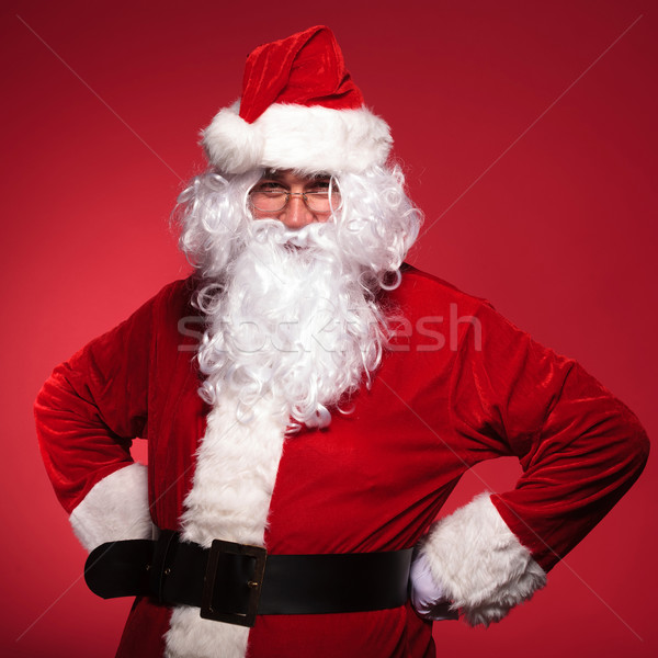 Kerstman permanente handen heupen Rood Stockfoto © feedough