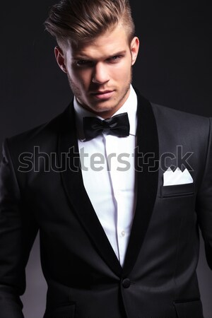 Mode elegante man smoking huls Stockfoto © feedough