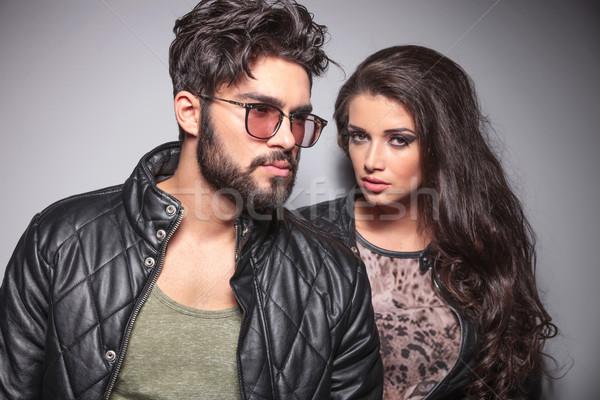 Young fashion couple posing Stock photo © feedough