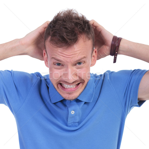 casual young man is furious Stock photo © feedough