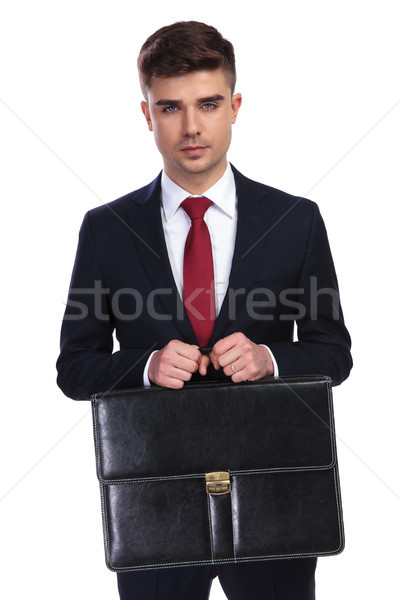 портрет красивый бизнесмен портфель оба Сток-фото © feedough