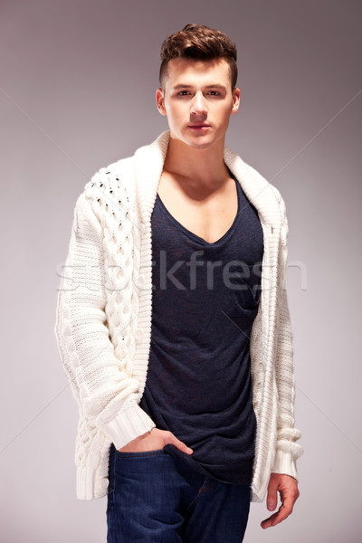 relaxed fashion male model Stock photo © feedough