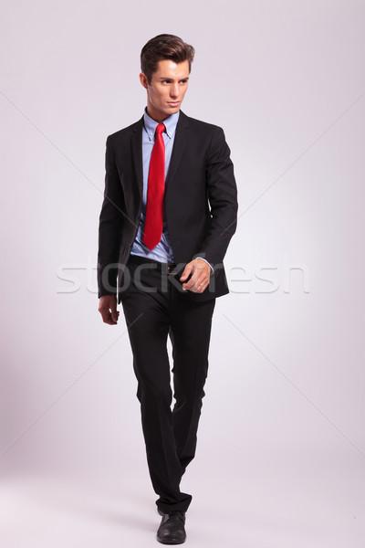 business man walking forward Stock photo © feedough