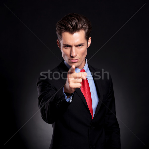 business man pointing at you Stock photo © feedough