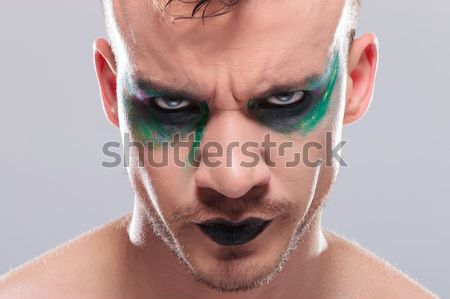 casual man with makeup dual side by side Stock photo © feedough