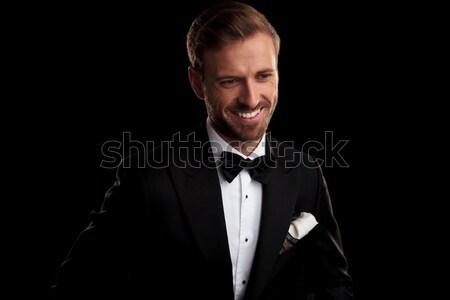 Przystojny elegancki człowiek biznesu jeden brew Zdjęcia stock © feedough