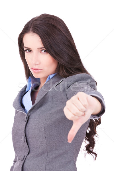 business woman with thumb down Stock photo © feedough