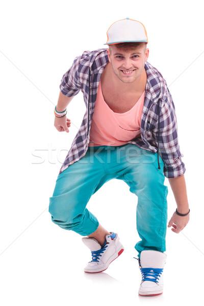 Ballerino posa attrattivo giovani maschio posizione Foto d'archivio © feedough