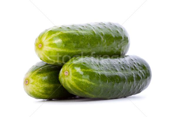 Three shiny cucumbers Stock photo © feedough