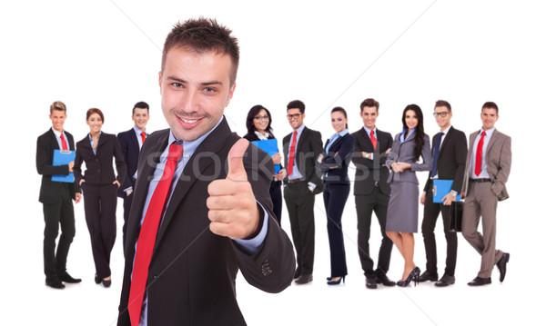 happy businessman making ok sign Stock photo © feedough