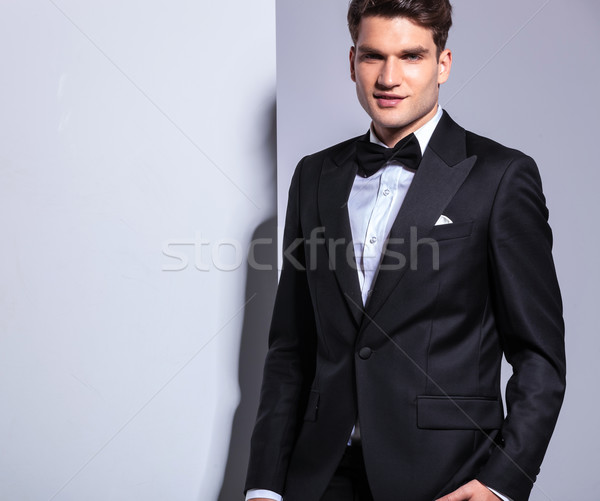 business man stading on studio background. Stock photo © feedough