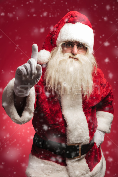 attention! santa claus is warning all the bad kids Stock photo © feedough