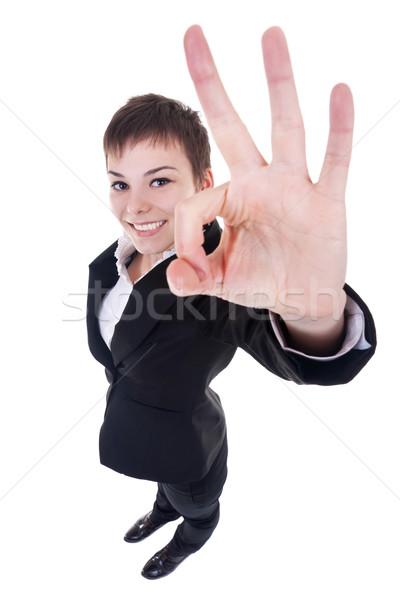 satisfied busienss woman Stock photo © feedough