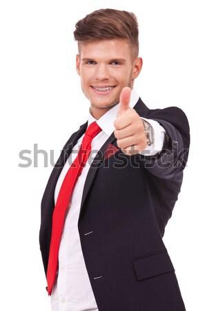 Сток-фото: деловой · человек · хорошо · знак · фотография · молодые