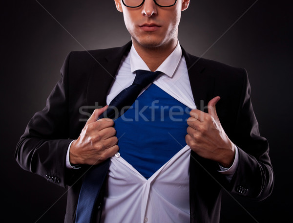 Cropped view of super business man Stock photo © feedough