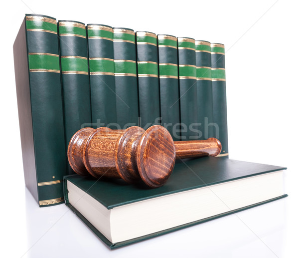 Boglya törvény könyvek bíró kalapács könyv Stock fotó © feedough