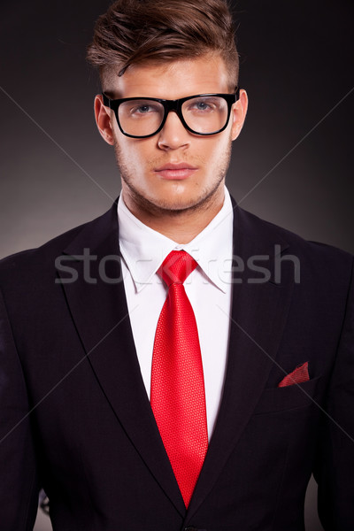 Stock photo: serious young business man