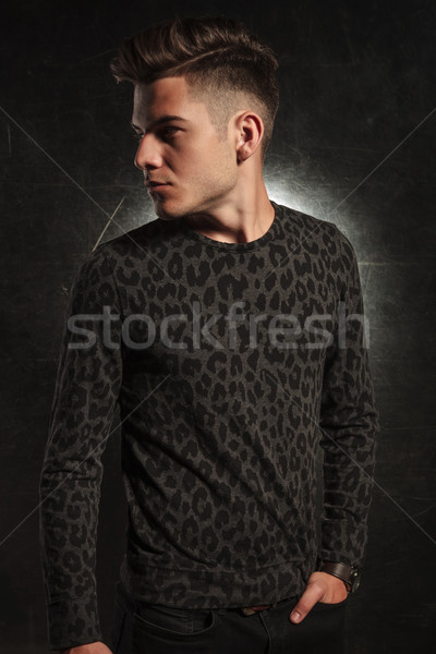 serious man looking away with hand in pocket Stock photo © feedough