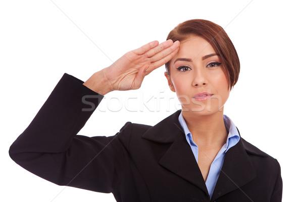 Femme d'affaires séduisant affaires main mode cheveux Photo stock © feedough