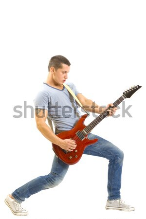 young man playing guitar Stock photo © feedough