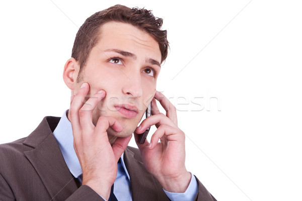 contemplative businessman talking on phone Stock photo © feedough